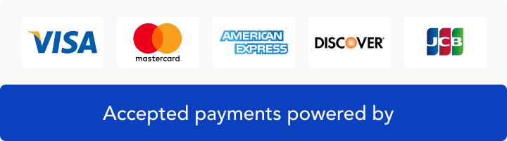 Accepted payments powered by.